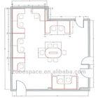 office floor plan, office design layout