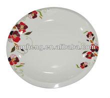 year 2012 new shape melamine plate