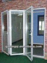 Aluminum small folding door interior