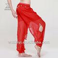 Toptan Cheap profesyonel oryantal dans pantolon harem, ucuz seksi payet şifon Jeton kırmızı göbek dansı pantolon( kz003)