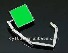 Best seller metal ideas Green square purse hanger fold wholesales