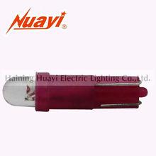Automotive indicator light lamp T5 WEDGE, LED dome light bulb, License plate lamp