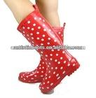 women clear rain boots