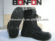 soft genuine leather high boot with steel toe