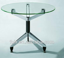 Transparent Glass Home Office Desk- Small Table( FOHXL-508#)