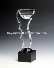 Fantastic crystal glass trophy for VIP gifts