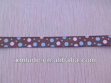 dots printed on grosgrain ribbon/ polk dot/ colorful dot ribbon