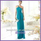 SPC065 One-shoulder tea length chiffon cocktail dresses