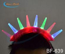 8pcs spike led Flashing light-up LED Mohawk for adult