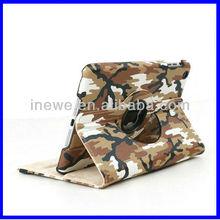 For iPad Mini camouflage rotational leather case