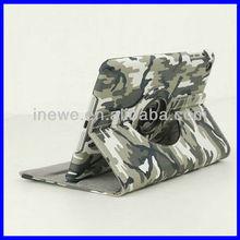 camouflage rotating leather case for iPad Mini