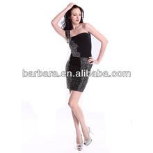 One shoulder beaded Bandage Dress 2012 hot selling