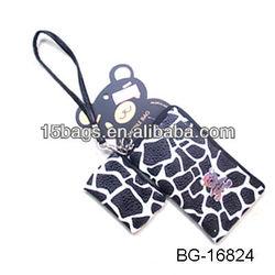 2012 Fashion popular design pu leather cellphone bag