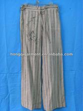 2012 new designed 100% cotton women's pants