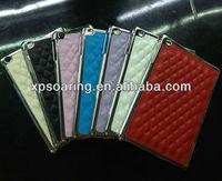 Woolen chrome case back cover for mini ipad