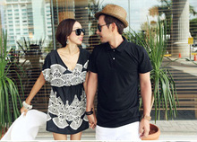 2012 hot-sell couple fashion summer polo collar couple t-shirt