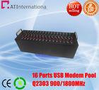 16 modem pool GSM/GPRS Modem Pool Wavecom Q2303 Chipset