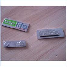 metal shiny green brand bag tag