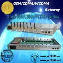 8 channels GSM/CDMA/WCDMA gateway, sms gateway provider