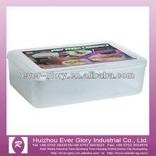 Transparent white plain lunch box