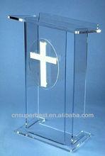 Limpar igreja pedestal acrílico atris para igreja cristã
