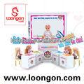 la belleza loongon muñecas de silicona de moda sistema de la muñeca de juguete de la muñeca casa de play set