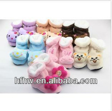 Winter Of Upset Warm Cute Cartoon Animals Of Baby Shoe Small Children's Shoes In Tall Canister