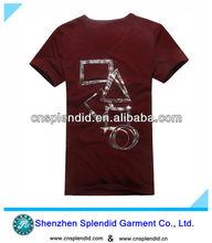 2012 100% combed cotton casual design men t shirt design patterns