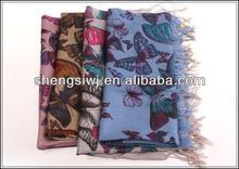 factory price Wholesale warm scarf shawl dress 2013 beaded silk scarf Winter fashion gift