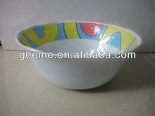 6'' melamine soup bowl, with damaskeen inside, culet