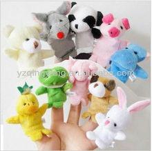 animal plush finger puppet toys