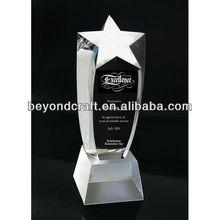 star awards crystal,crystala star shape trophy