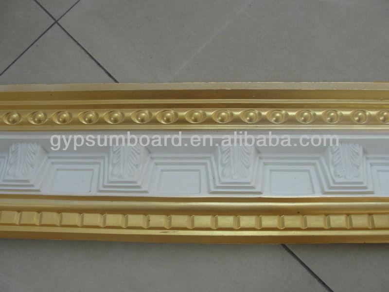 White Decorative Gypsum Ceiling Cornice Design View