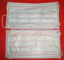 Prevenção de poeira / evitar CE mared não tecido descartável 3ply ( PP não tecido + Meltblown + PP não tecido ) máscara facial com earloops
