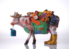 Fashion Home Decoration Ornament Resin Cow Crafts