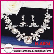 fashion delicate diamond necklace sets