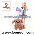 loongonตุ๊กตาไวนิลตุ๊กตาแฟชั่นชุดตุ๊กตาสาวซิลิโคน