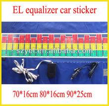 Cool equalizer el car sticker 2012 newly