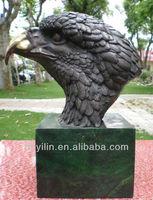 Bronze Casting Eagle Head Sculpture For Garden Decoration