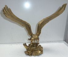 Home Decoration Small Size Brass Casting Eagle Sculpture