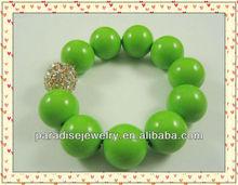 2012 Popular Colorful handmade stretch crystal charm beaded Bracelet-11pcs/row-B22042-6