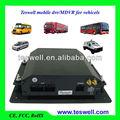 Caliente h. Hdd 264 8 canales dvr móvil gps/3g/rs232/rs485/g - sensor de/de detección de movimiento/botón de pánico para los autobuses desde el fabricante