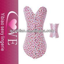 LD-11166 Latest Style Sexy Pink Corset &Garter