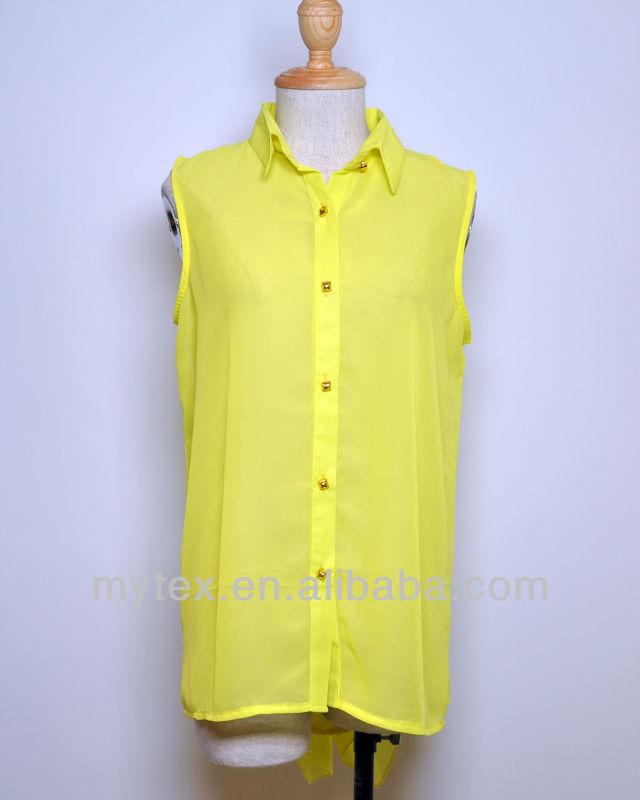 Сшить блузку без рукавов из шифона