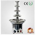 Chocolazi ant-8060 barrena 4 niveles de acero inoxidable comerciales de fondue de chocolate de la máquina