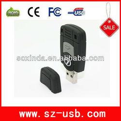 unique design car logo usb keychain with high quality