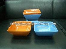 Nova chegada de cor de porcelana / bacia quadrada / azul bacia quadrada
