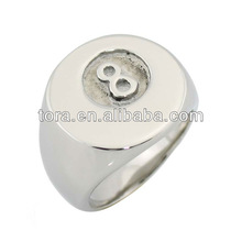 fashion silver plated Roman number mens ring