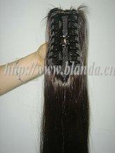 "Cheap! 28"" straight brown human hair Shark Clip ponytail"