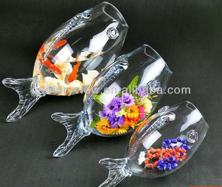 Decorative clear glass fish shaped fish bowls wholesale for Decorative fish bowls